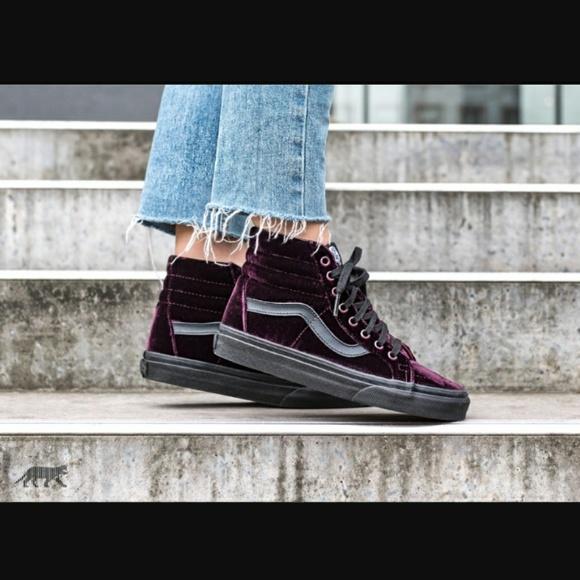 f4e0115ccc Vans sk8-hi reissue purple velvet shoes. M 5b78e85403087cf19f14e1c9